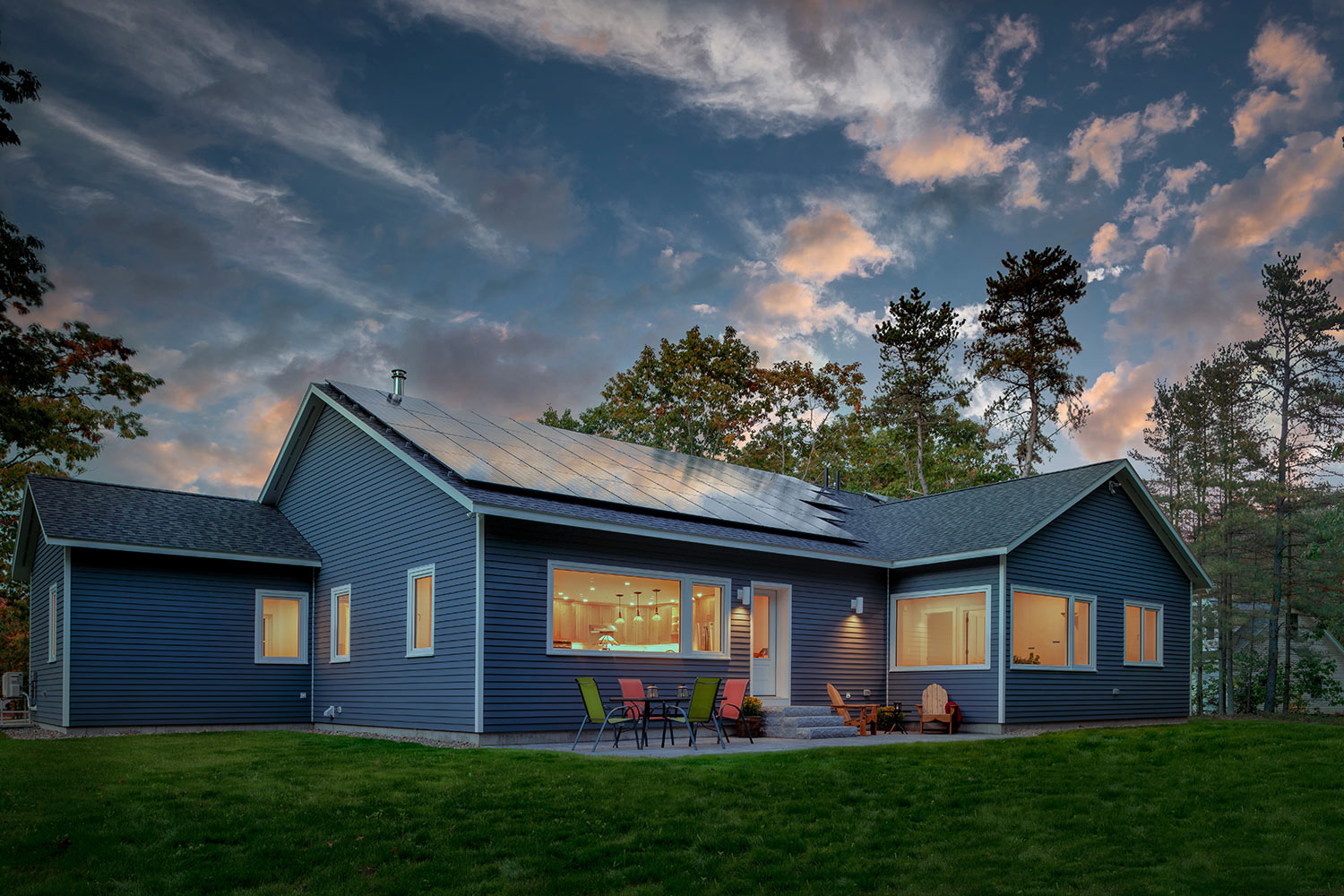 Net Zero Home in Brunswick Maine exterior
